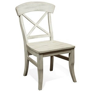 X-Back Dining Side Chair with Saddle Seat