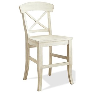 X-Back Counter Stool with Saddle-Seat