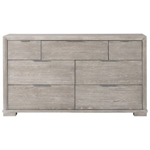 Casual Contemporary Dresser with Felt-Lined Drawers