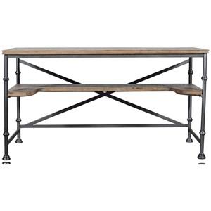 Rustic-Industrial Writing Desk