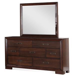 Riverside Furniture Riata Dresser & Mirror Set