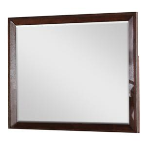 Mirror w/ Beveled Wood Frame