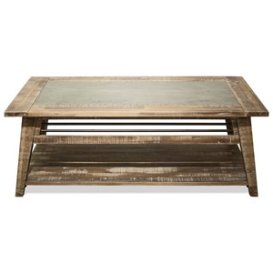 Industrial Coffee Table with Removable Casters