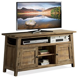 Industrial 56-Inch TV Console with Wire Management
