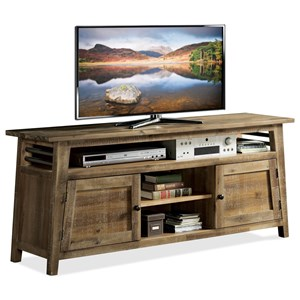 Industrial 66-Inch TV Console with Wire Management