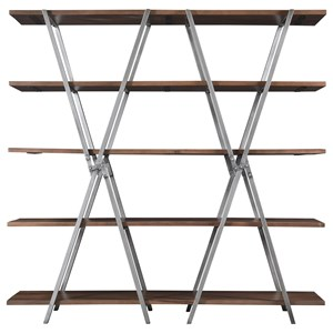 Contemporary Double-X Bookcase
