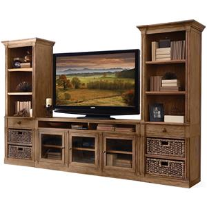 Riverside Furniture Sherborne TV Console and Piers