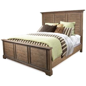 Queen Panel Bed in Toasted Pecan Finish
