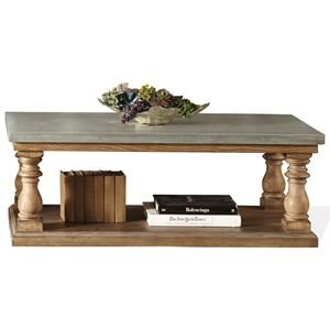 Riverside Furniture Sherborne Concrete Top Coffee Table