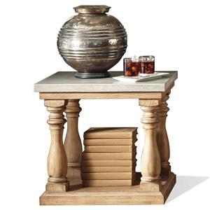 Riverside Furniture Sherborne Concrete Top Side Table