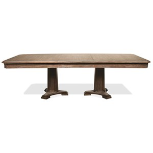 """Pedestal Dining Table with 24"""" Leaf"""