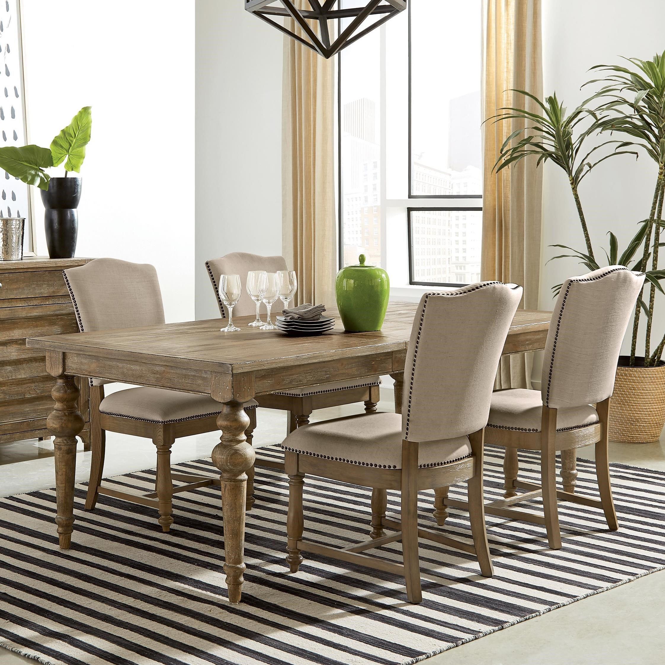 Sonora 5-Piece Dining Table Set by Riverside Furniture at Mueller Furniture