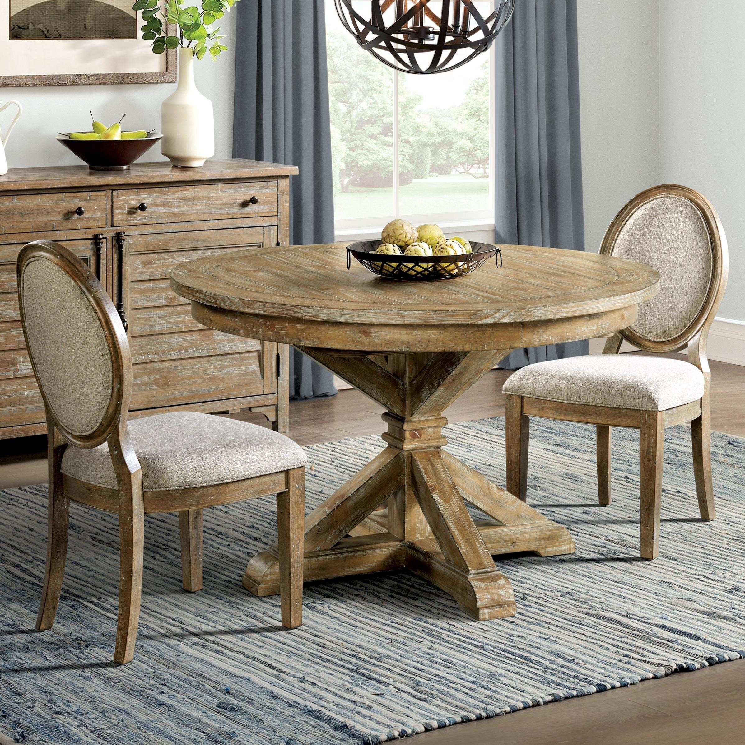 Sonora 3-Piece Round Dining Table Set by Riverside Furniture at Zak's Home