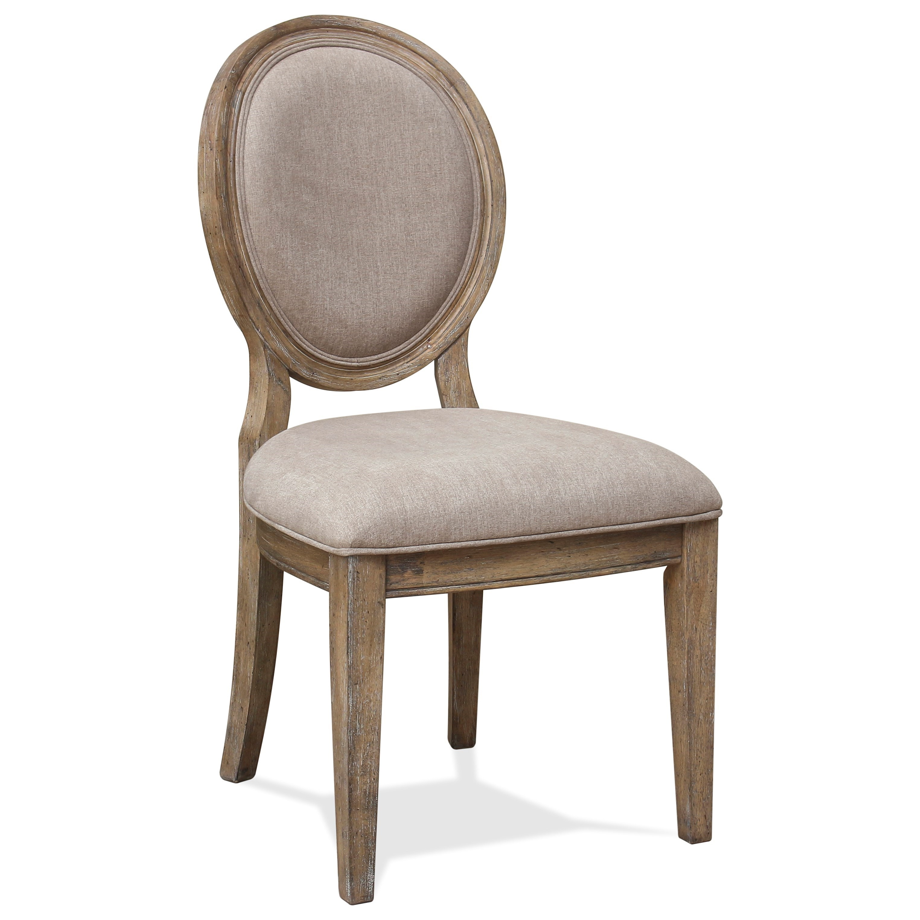 Sonora Upholstered Oval Side Chair by Riverside Furniture at Zak's Home