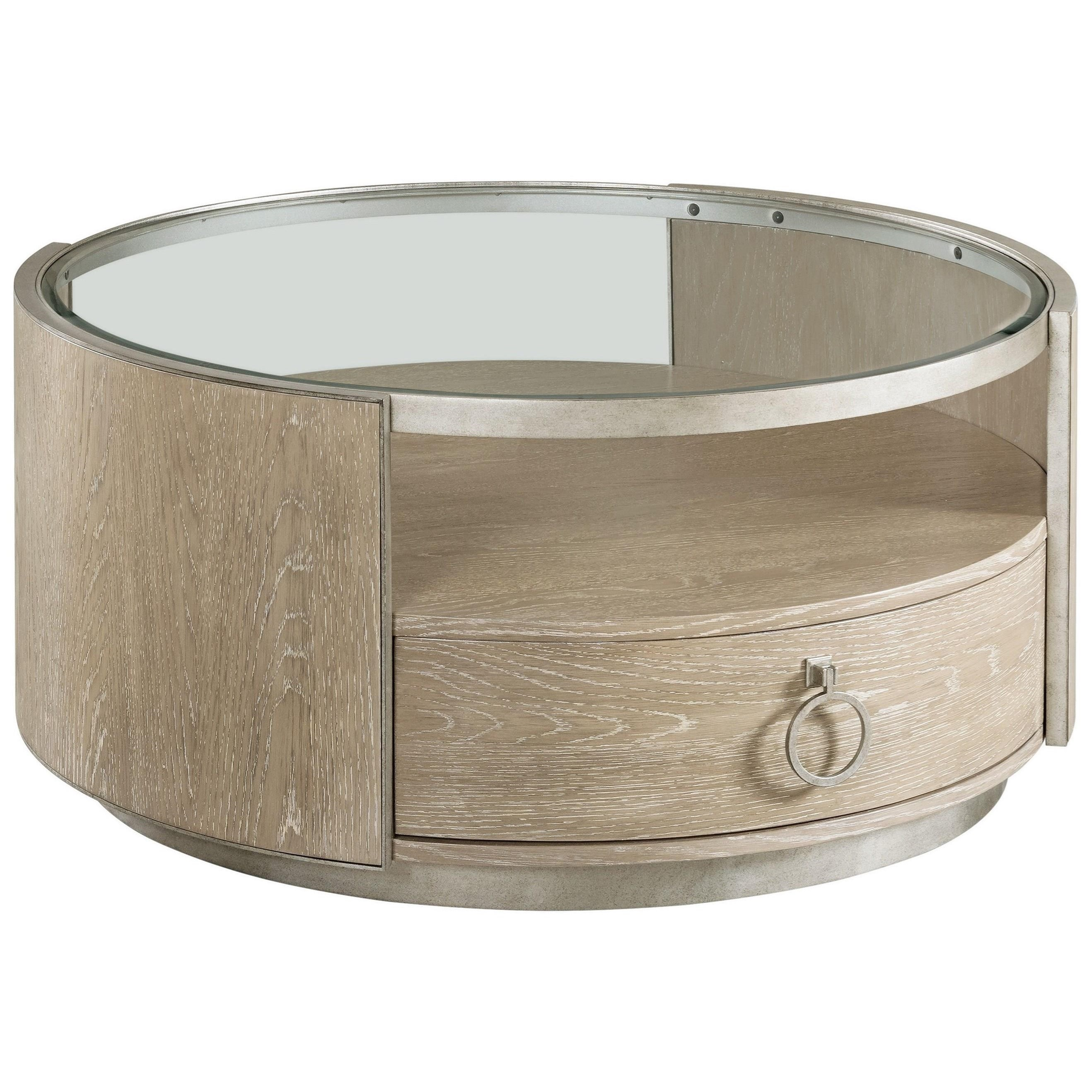 Sophie Round Cocktail Table by Riverside Furniture at Zak's Home