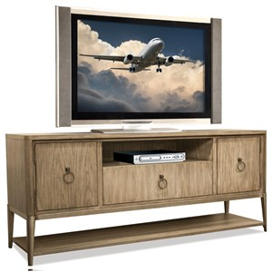 Entertainment Console with Ring Handle Hardware