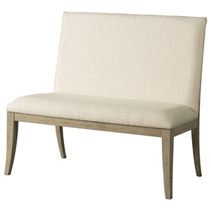 Contemporary Upholstered Dining Bench with Full Back