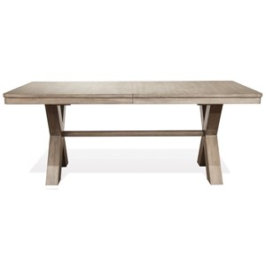 "Trestle Dining Table with 24"" Leaf"