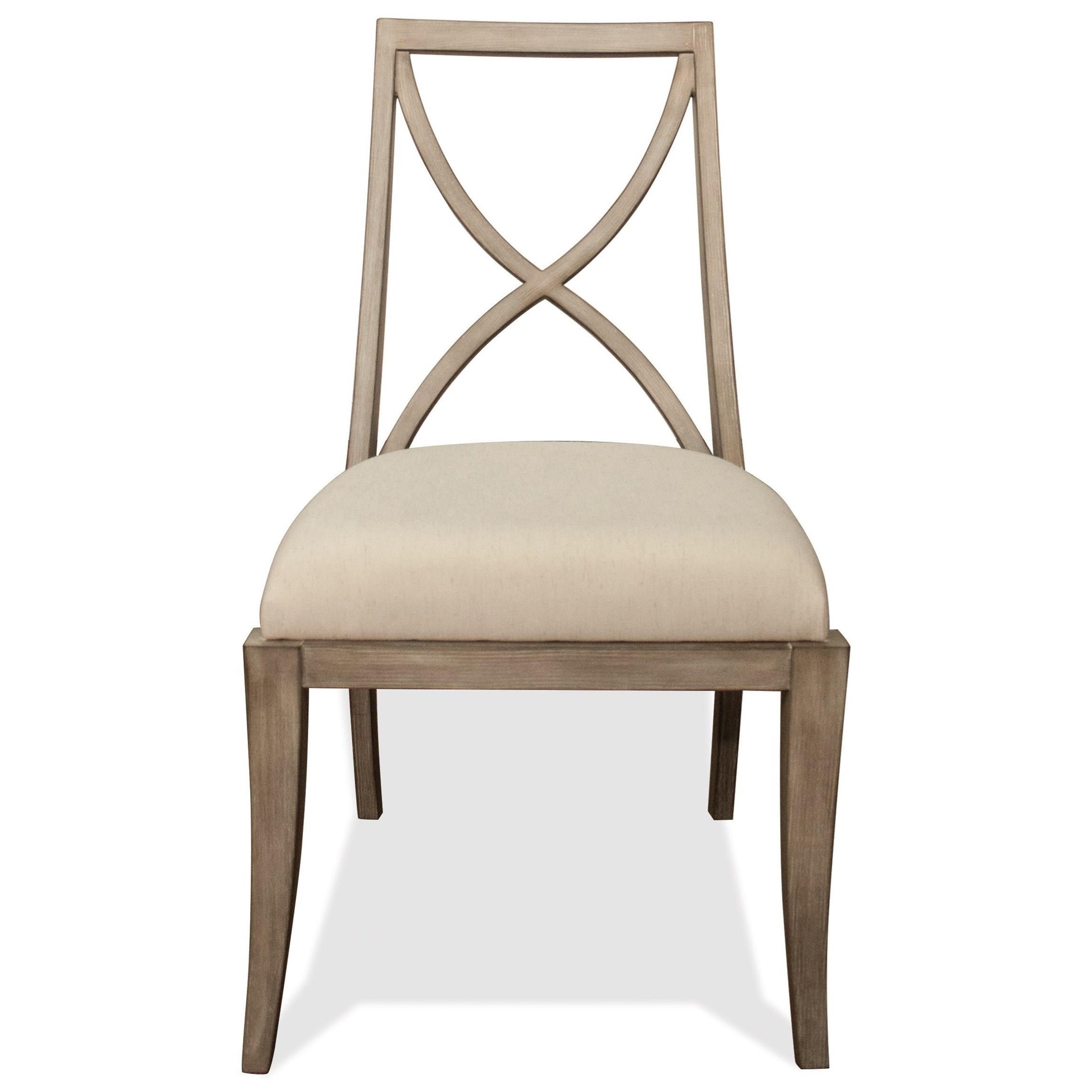 Sophie Upholstered Side Chair by Riverside Furniture at Zak's Home