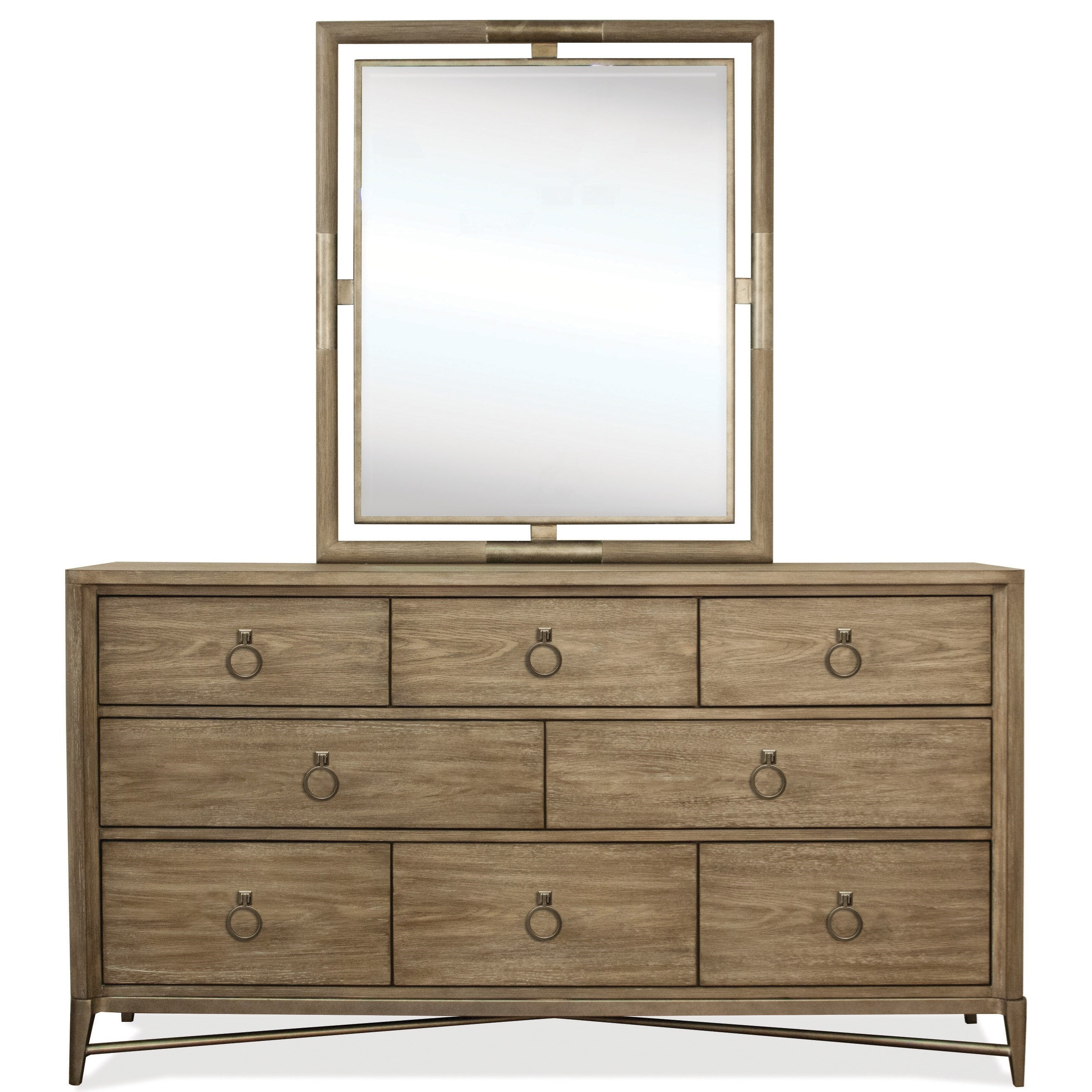 Sophie Dresser and Mirror Combo by Riverside Furniture at Mueller Furniture