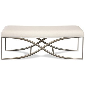 48-Inch Upholstered Bed Bench with Elegant Metal Base