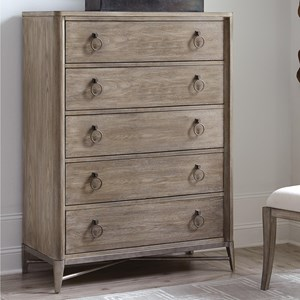 5 Drawer Chest with Ring Pull Hardware