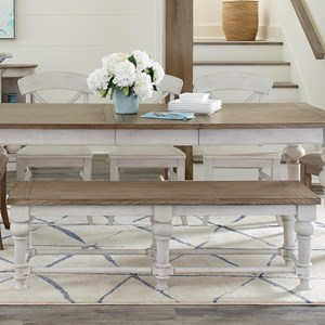 Farmhouse Dining Bench with Turned Legs