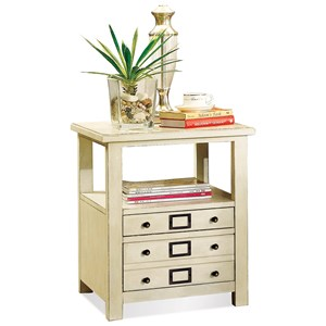 2 Drawer End Table in Country White