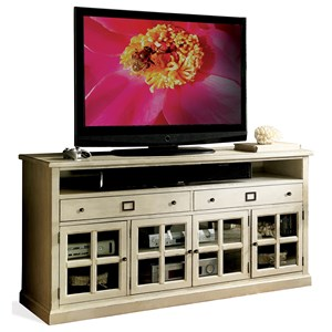 68-Inch TV Console with Mullioned Doors