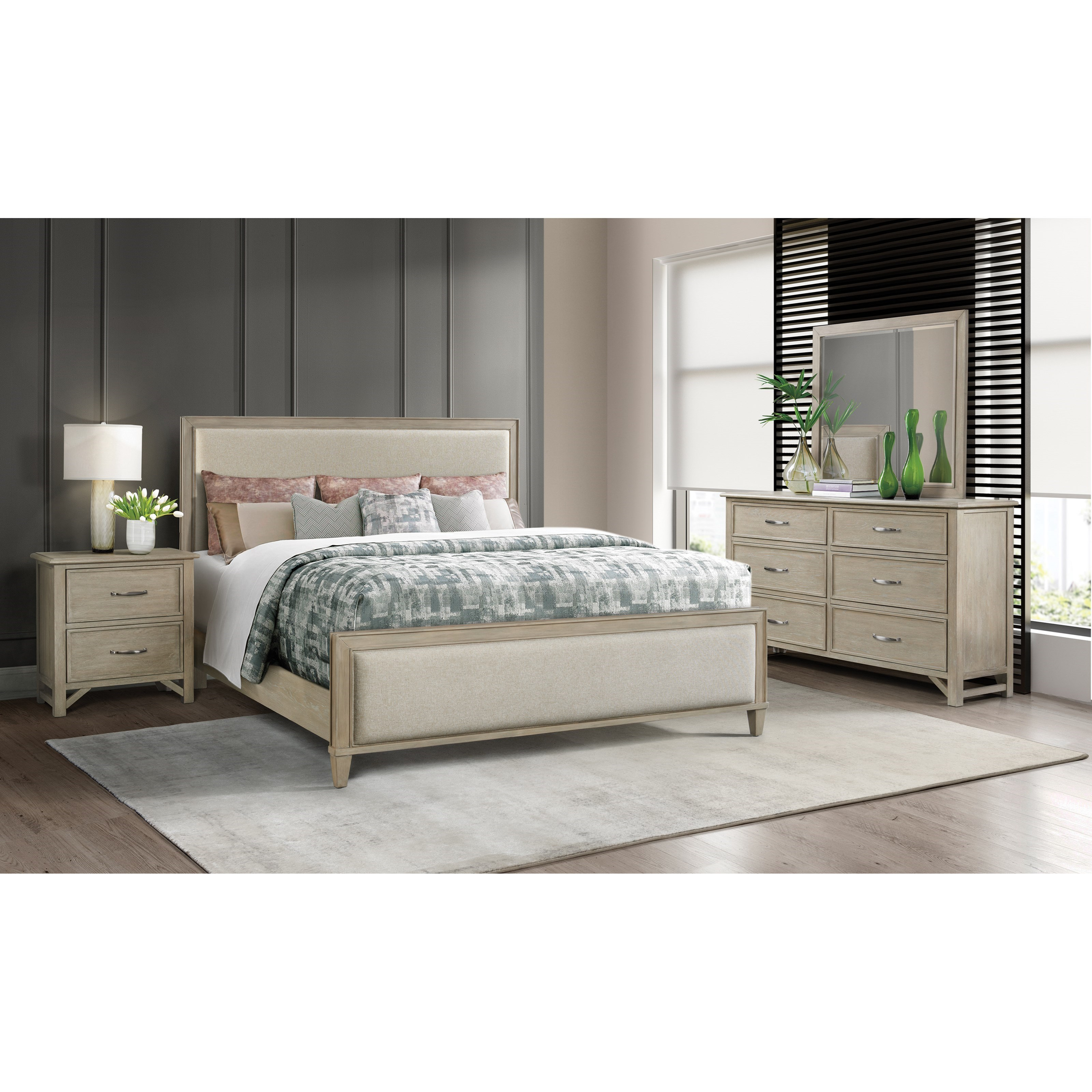 Talford Natural King Bedroom Group  by Riverside Furniture at Stuckey Furniture
