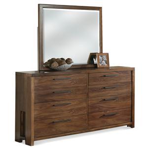 Riverside Furniture Terra Vista Dresser & Mirror Set