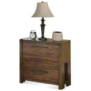 Riverside Furniture Terra Vista Three Drawer Nightstand