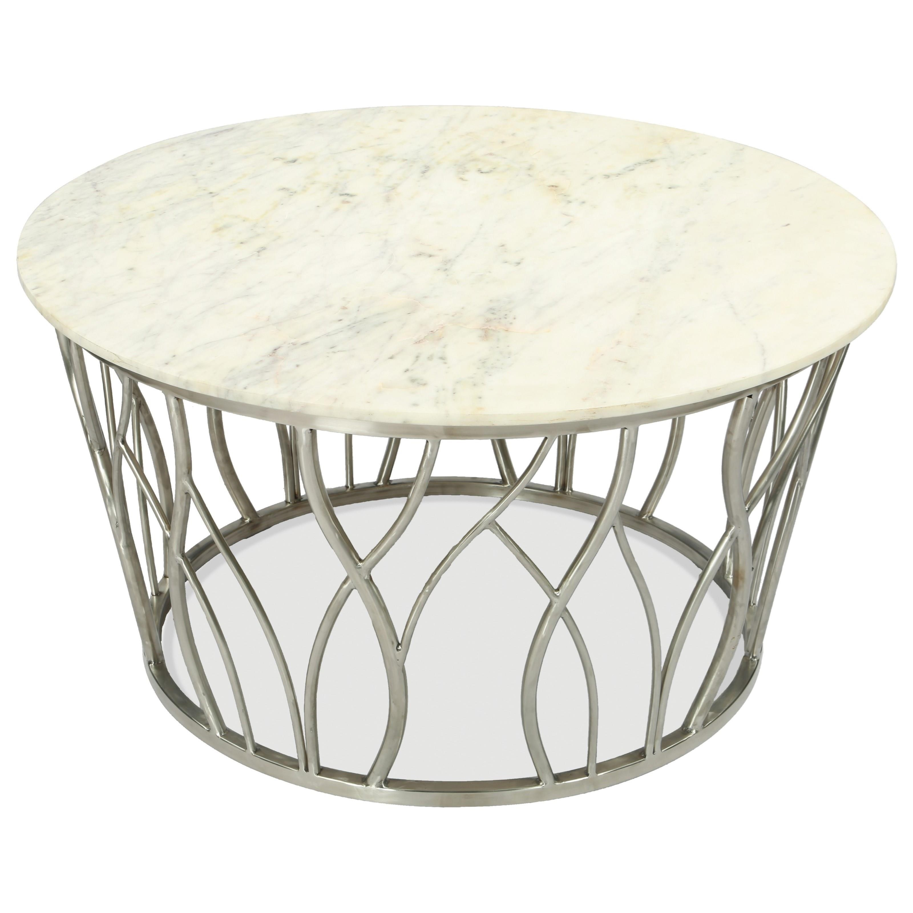 Ulysses Round Cocktail Table by Riverside Furniture at Darvin Furniture
