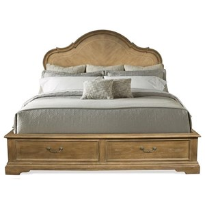 Queen Panel Storage Bed with 2 Footboard Drawers