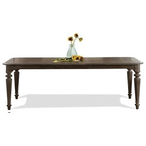 Rectangle Leg Dining Table in Dark Sienna Finish