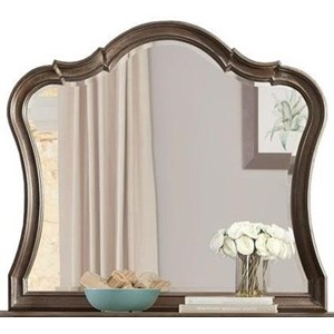 Framed and Beveled-Edge Mirror