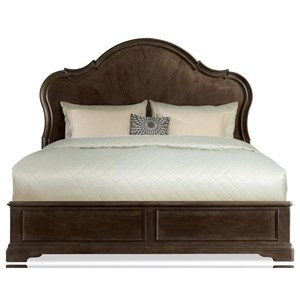 Queen Panel Bed with Shaped Headboard