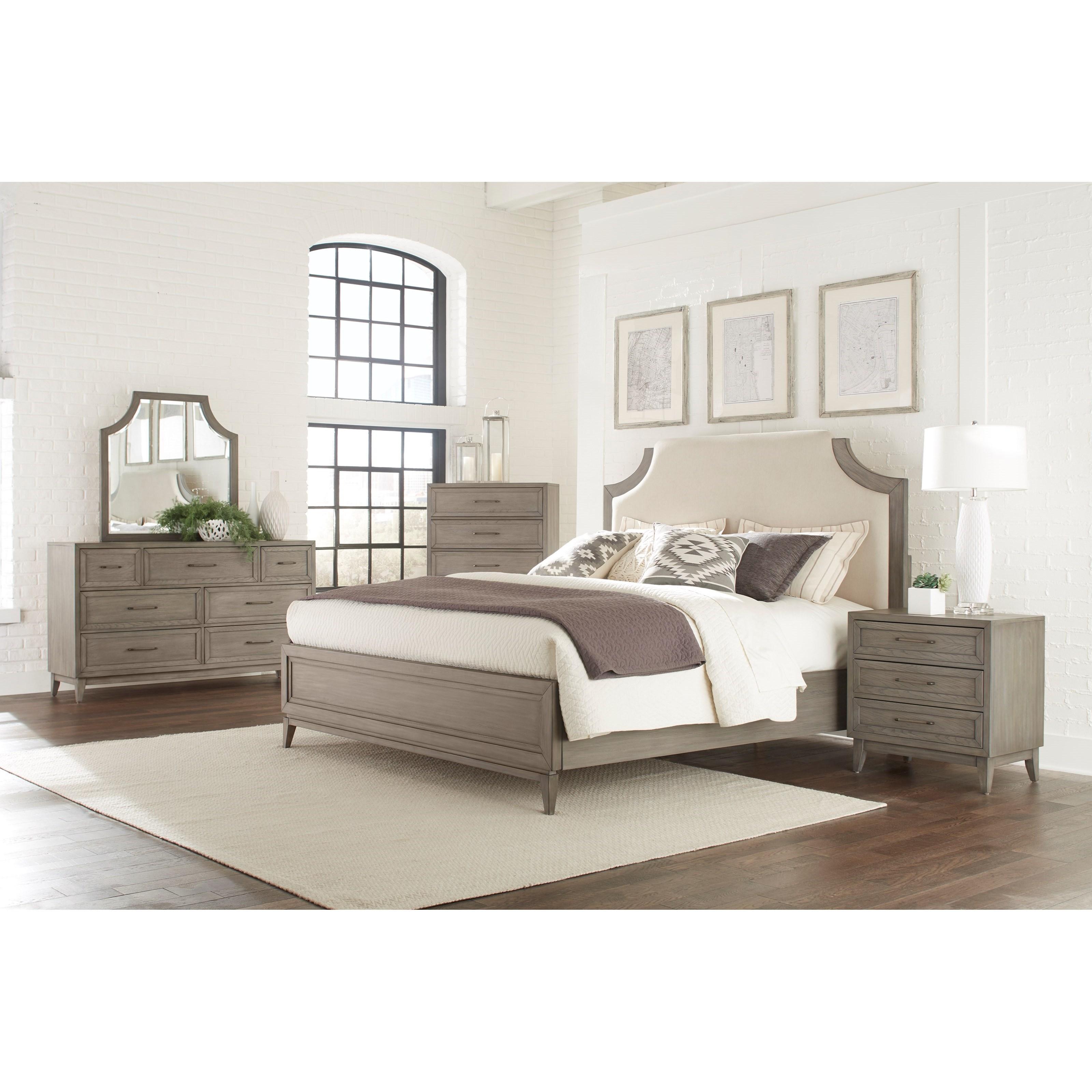 Vogue King Bedroom Group 4 by Riverside Furniture at Mueller Furniture