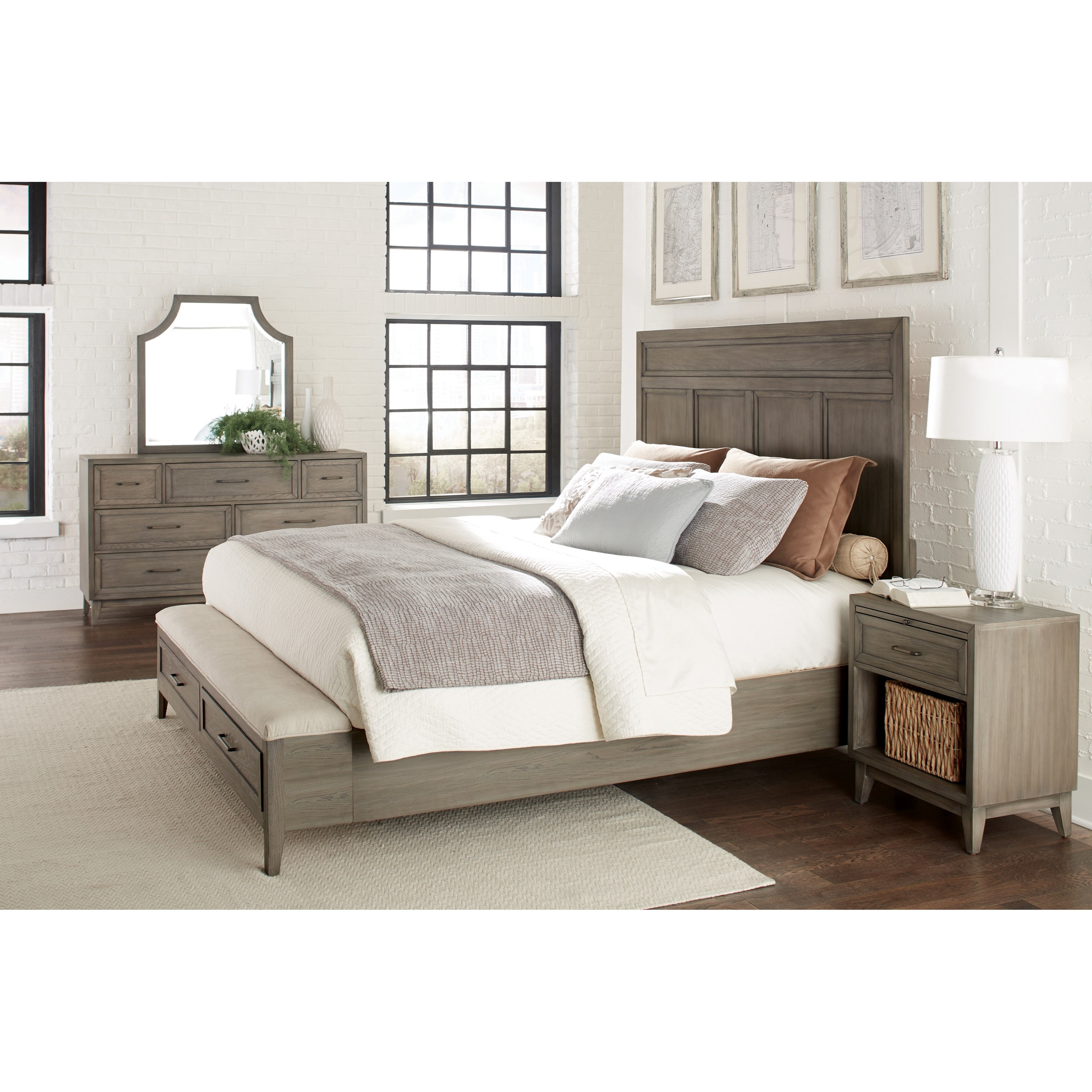 Vogue Queen Bedroom Group 5 by Riverside Furniture at Zak's Home