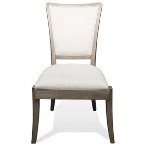 Solid Wood Upholstered Side Chair