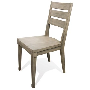 Solid Wood Side Chair with Saddle Seat