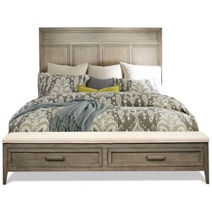 2 Drawer King Panel Storage Bed