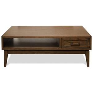 1 Drawer Cocktail Table with Open Shelf