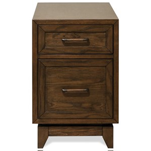 2 Drawer Chairside Table with Side Shelves