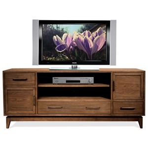 74-Inch TV Console with Removable Shelving
