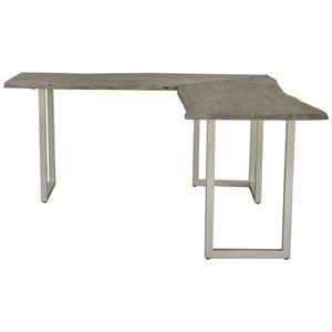 L-Desk with Live Edge Top