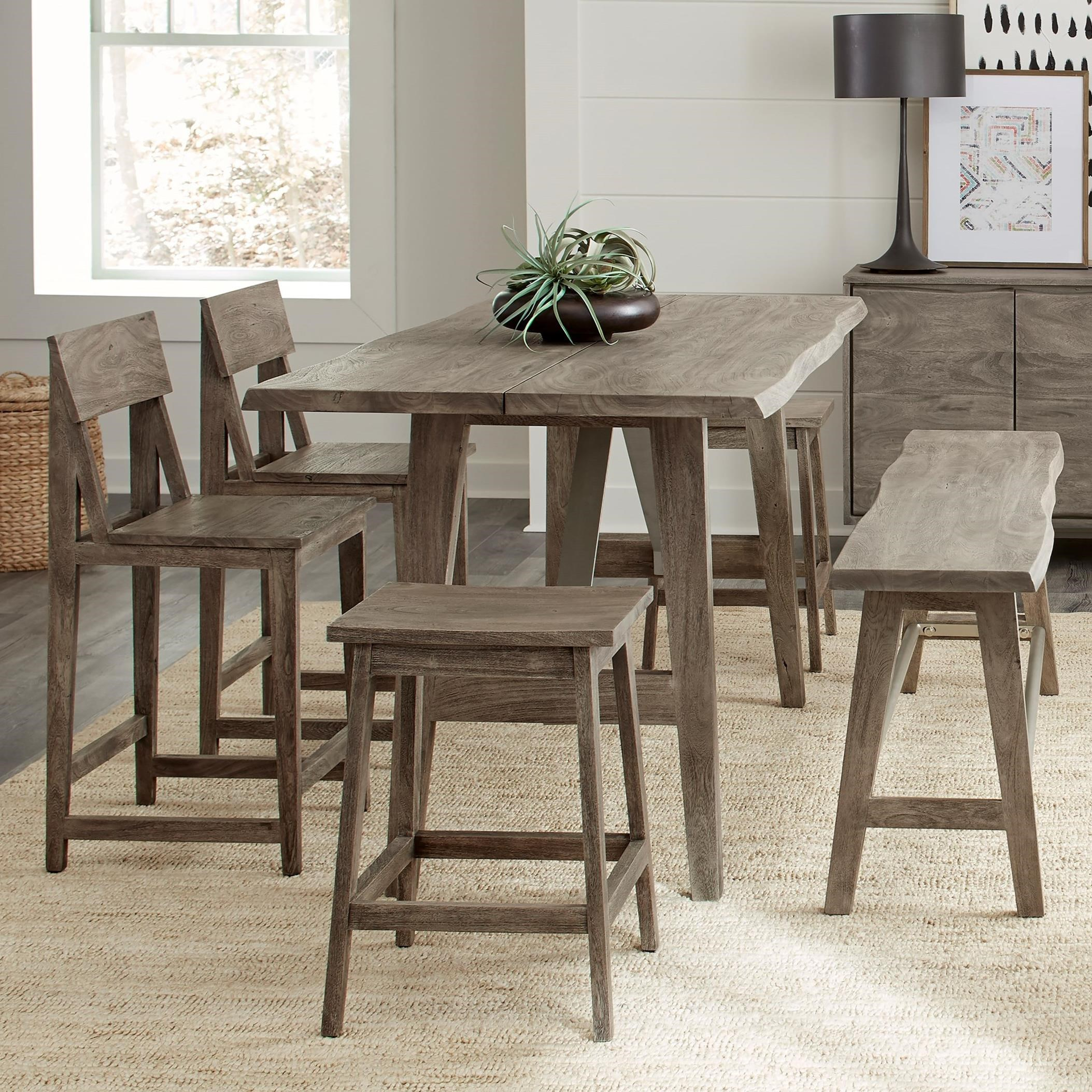 Waverly 6-Piece Counter Height Table Set by Riverside Furniture at Lucas Furniture & Mattress