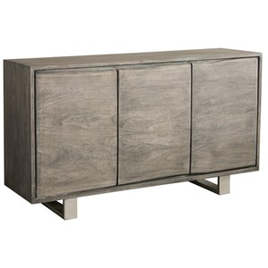 3-Door Sideboard with Live-Edge Design