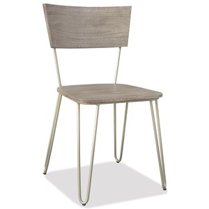 Side Chair with Hairpin Metal Legs