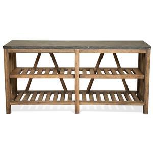 Sofa Table w/ Shelves